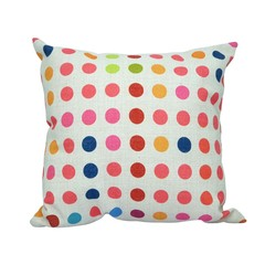 Rustic Couch Pillow (Polka Dots)