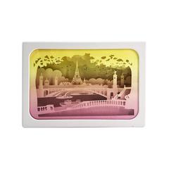 Magnificent Paris Paper Cut Light Box