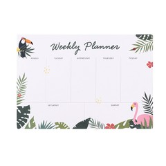 Tropical Toucan Flamingo A4 Weekly Planner