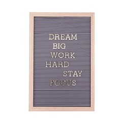 Remindful Wood Frame With Grey Plastic Letterboard