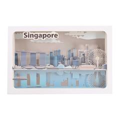 Iconic Singapore CBD Skyline Colour Changing Light Box