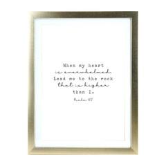 Comforting Psalm 61:2 Matt Gold A3 Frame