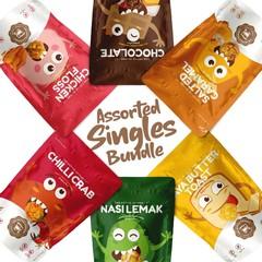Addictive Assorted Singles Flavoured Popcorn (Bundle)