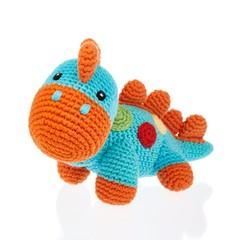 Playful Dinosaur Rattle (Turquoise)