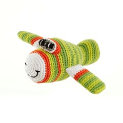 Playful Plane Rattle (Green)