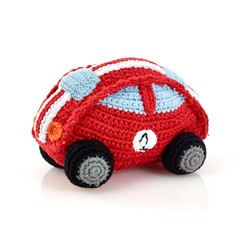 Playful Car Rattle (Red)