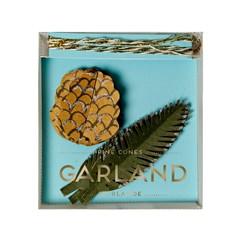 Festive Pine Cones Garland