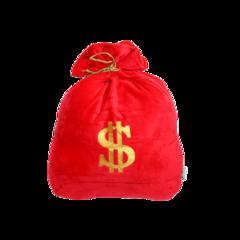 Auspicious Red Money Bag Cushion