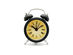 Totally Mini Twin Bell Alarm Clock (Black)
