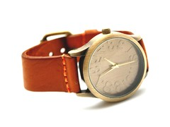 Bronze Leather Watch