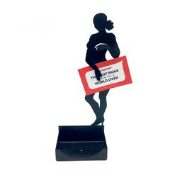 Female Figurine Business Card Holder