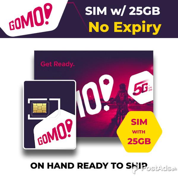 gomo sim card 5g  lte ready free 25gb data no expiry