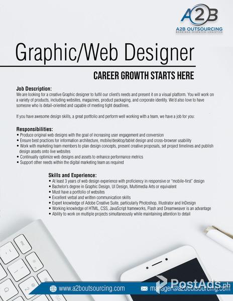 Graphic And Web Designer Postads Ph