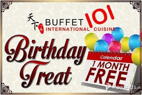 buffet 101 deals 2019