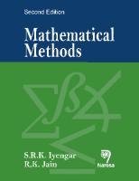 Mathematical Methods, 2nd Ed by S R K Iyengar on Textnook.com