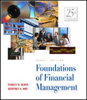 Foundations of Financial Management, 10th Ed ; Study Guide and Workbook 10Rev Ed by Geoffrey A HirtStanley B Block on Textnook.com