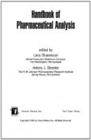 Handbook of Pharmaceutical Analysis Vol 117 by Anthony J StreeterLena Ohannesian on Textnook.com