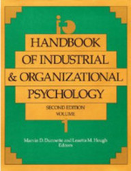 Handbook of Industrial and Organizational Psychology Vol. 1 (Handbook of Industrial & Organizational Psychology) by Leaetta M HoughMarvin D Dunnette on Textnook.com