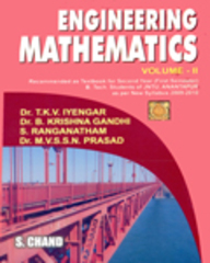 Engineering Mathematics (JNTU - Anantapur): Vol. 2 by B Krishna GandhiM V S S N PrasadRanganatham ST K V IYENGAR on Textnook.com