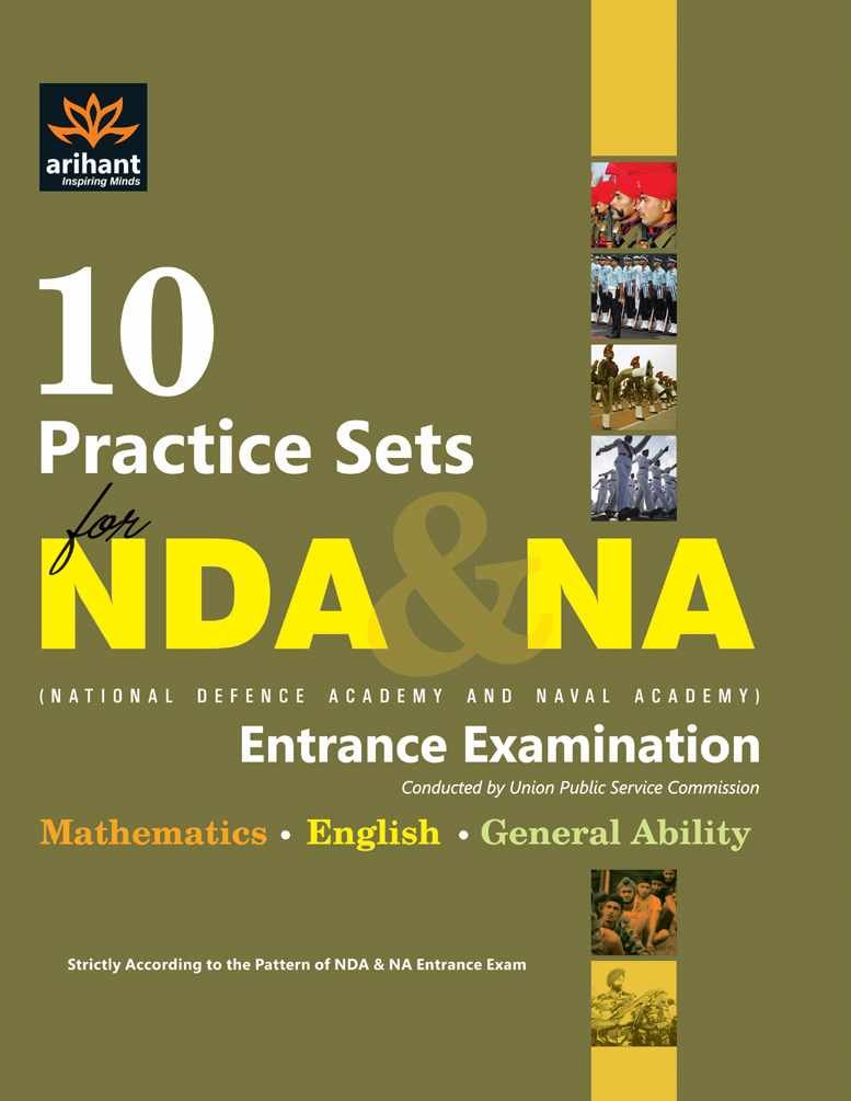 10 Practice Sets NDA & NA Entrance Exam  by Experts Compilation on Textnook.com