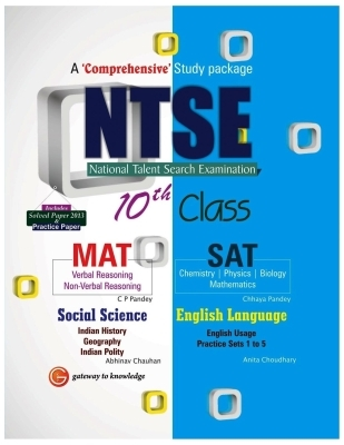 Ntse 10th Class Mat, Sat + Social Science and English Language, 1st Ed by G K PUblications on Textnook.com