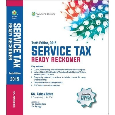 Service Tax Ready Reckoner 10Th Edn 2015  by Ashok Batra on Textnook.com