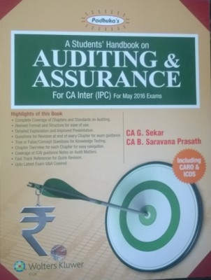 A Student Handbook On Auditing & Assurance For Ca Inter(Ipc)For May 2016 Exams 10Th Edition  Nov.2015 by G.Sekar on Textnook.com
