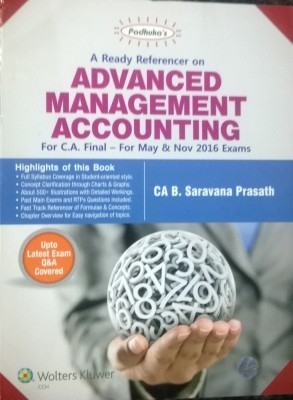 A Ready Referencer On Advanced Management Accounting For Ca Final For May & Nov.2016 Exams  11Th Edition Nov.2015 by G.Sekar on Textnook.com