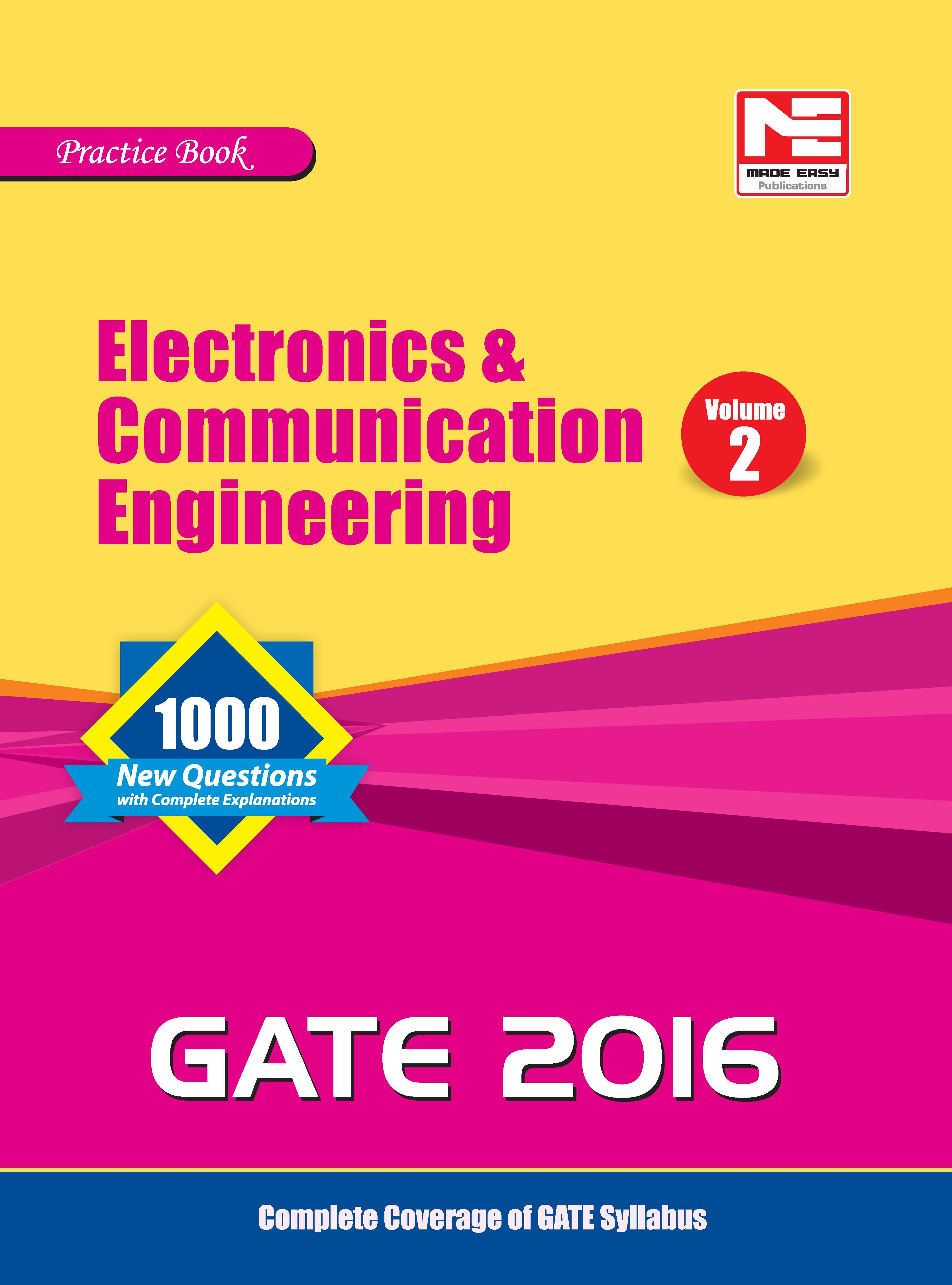 Gate Practice Book For Electronics & Comm. Eng. 2016 Vol. 1 by  on Textnook.com