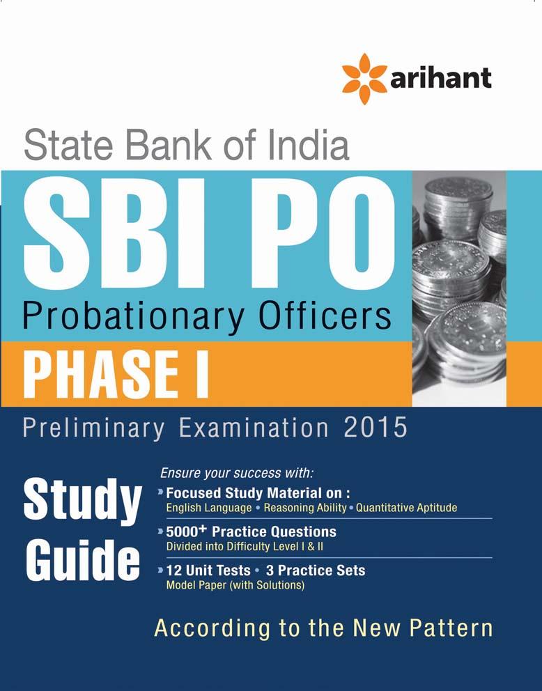 SBI PO Phase-1, Preliminary Examination Study Guide 2015 by Arihant Experts on Textnook.com