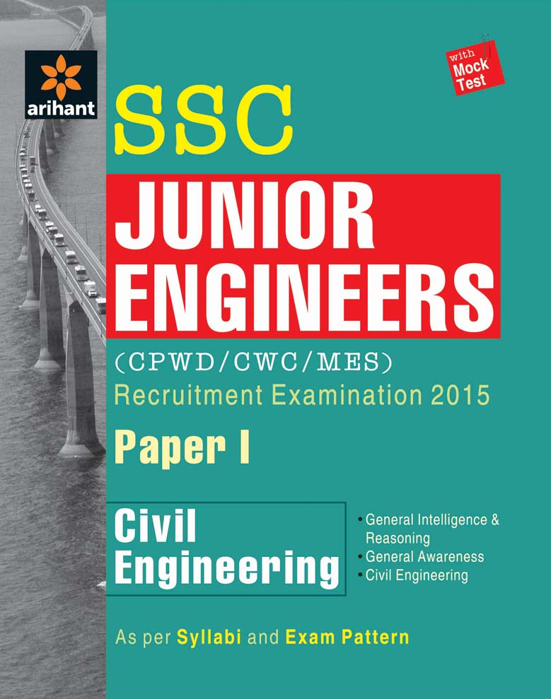 SSC Junior Engineer - Civil Engineering Paper 1 (CPWD/MES) Recruitment Examination 2016 by Experts Compilation on Textnook.com