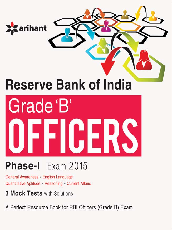 Reserve Bank of India Grade 'B' Officers Phase-1 Exam 2015 by Arihant Experts on Textnook.com