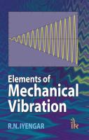 Elements of Mechanical Vibration, 1st Ed by R N Iyengar on Textnook.com