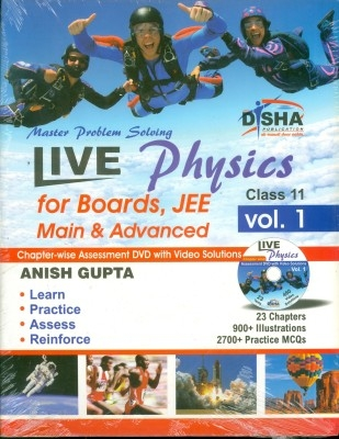 Live Physics Vol. 1 for Boards, JEE Main & Advanced (Class 11) with Assessment & Video Solution DVD by Disha Publication on Textnook.com