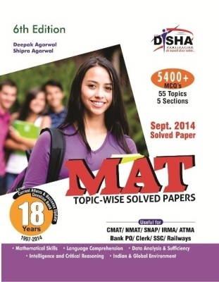 MAT 18 years Topic-wise Solved Papers (1997-2014) 6th Edition  by Disha Publication on Textnook.com