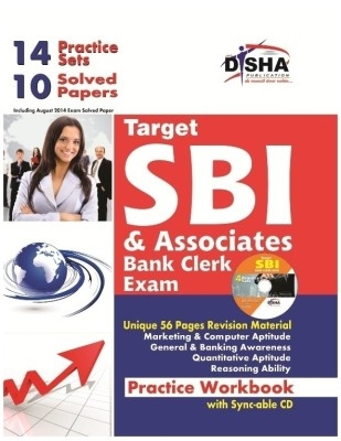 Target SBI & Associates Clerk Exam Practice Workbook - 10 Solved + 14 practice Sets (4th edition) with Sync-able CD by Disha Publication on Textnook.com