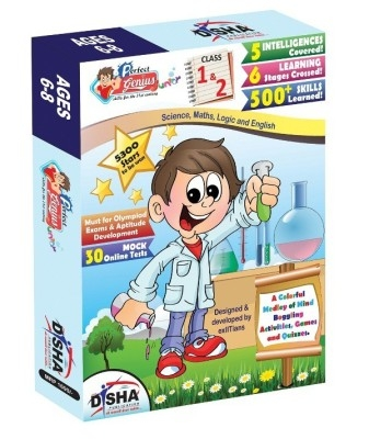 Perfect Genius Junior for Class 1 & 2 (Olympiads, Science, Maths, Logic & English) ages 6 to 8 with 30 Online Practice Tests by Disha Publication on Textnook.com