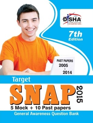 TARGET SNAP 2015 - Past (2005 - 2014) + 5 Mock Tests 7th Edition by Disha Publication on Textnook.com
