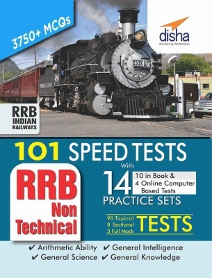 101 Speed Tests (Topic-wise) with 14 Practice Sets (10 in book & 4 Online CBT) for RRB Non Technical Exam by Disha Publication on Textnook.com