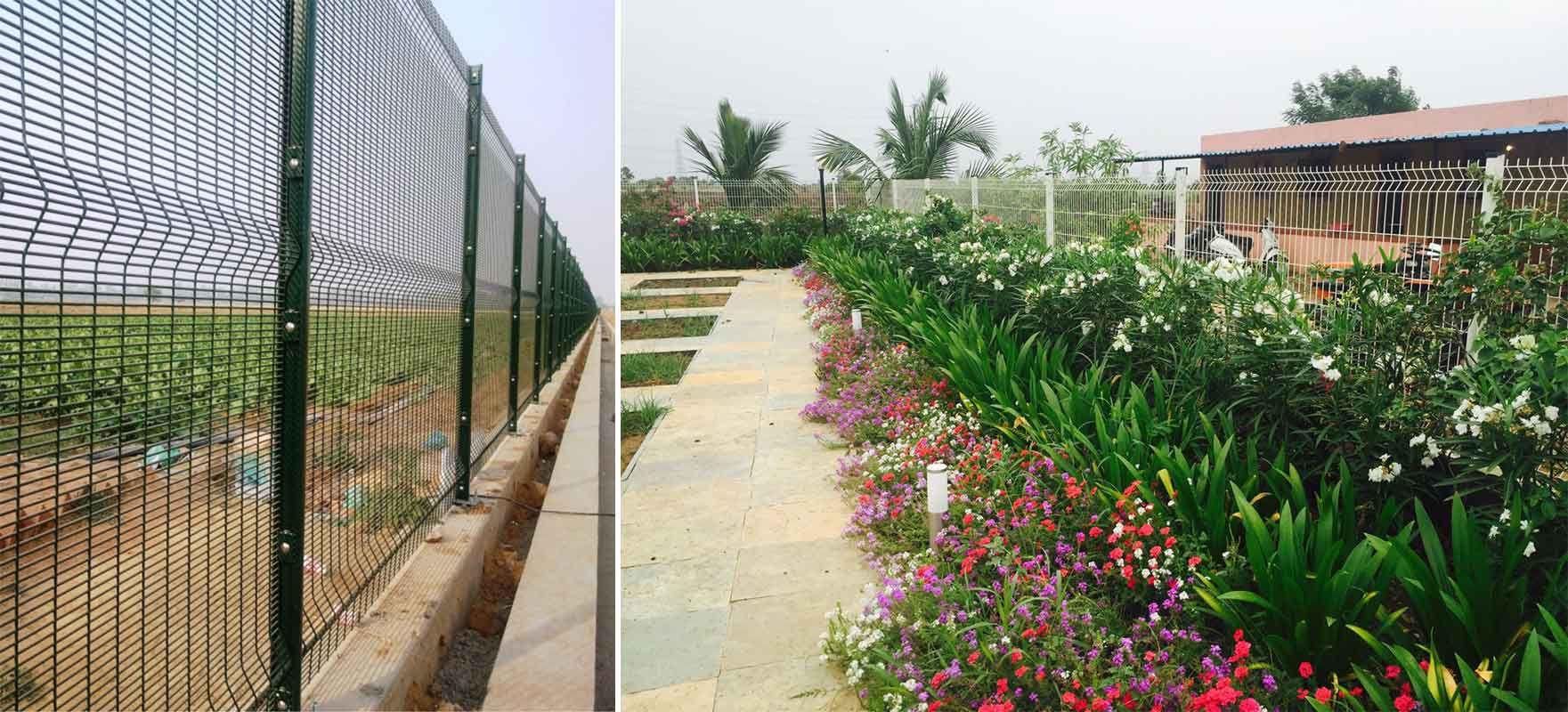 Fencing types of fences for exterior purposes