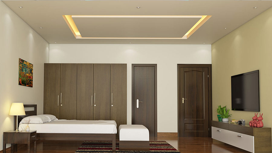Gypsum Board False Ceiling For Bedroom