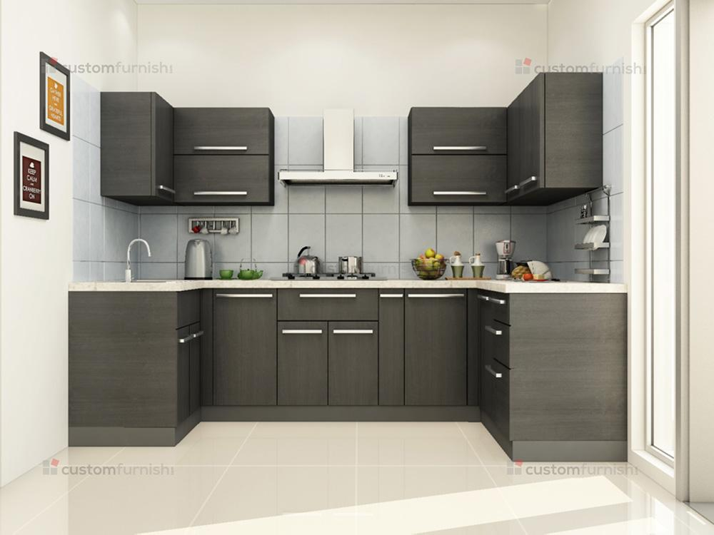 Modular kitchen designs for Small flat kitchen design