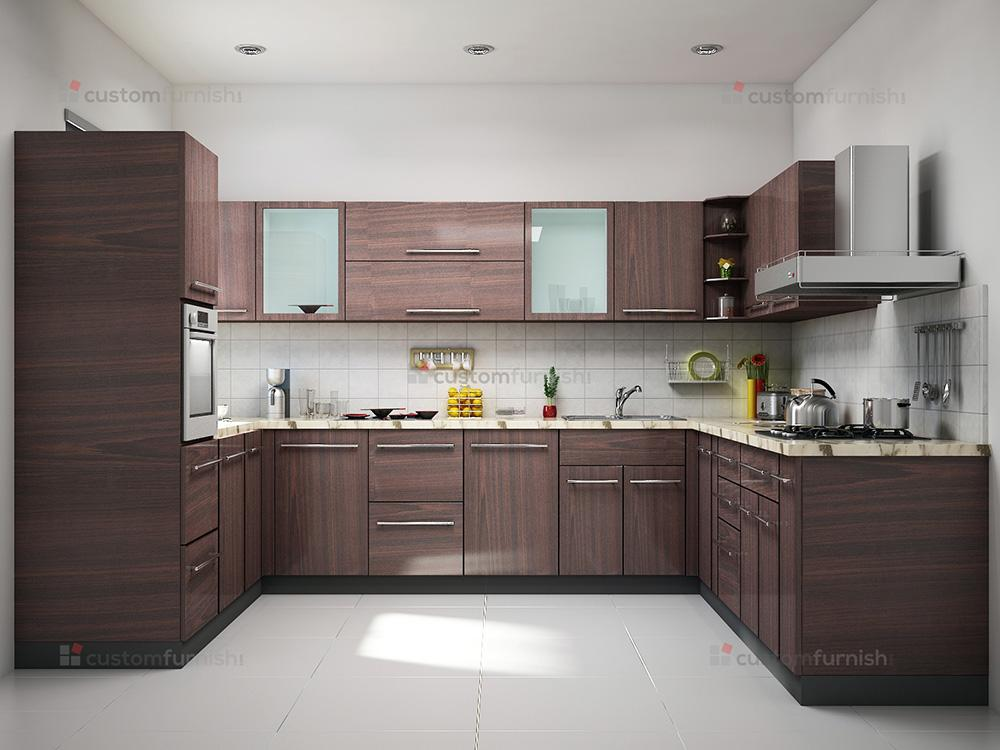 modular kitchen designs : u shaped kitchen 6 from www.customfurnish.com size 1000 x 750 jpeg 70kB