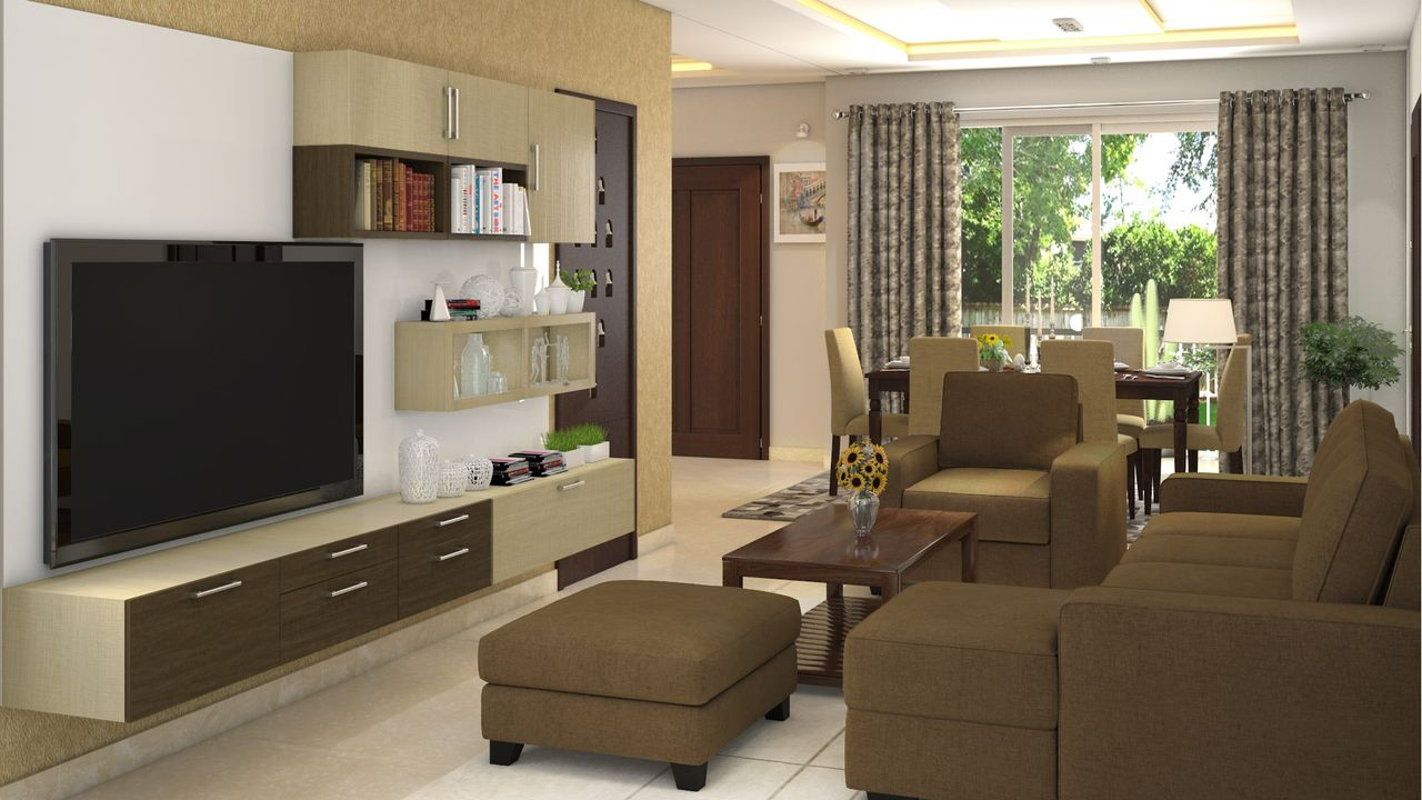 3 bhk complete interiors for 3 room flat interior design