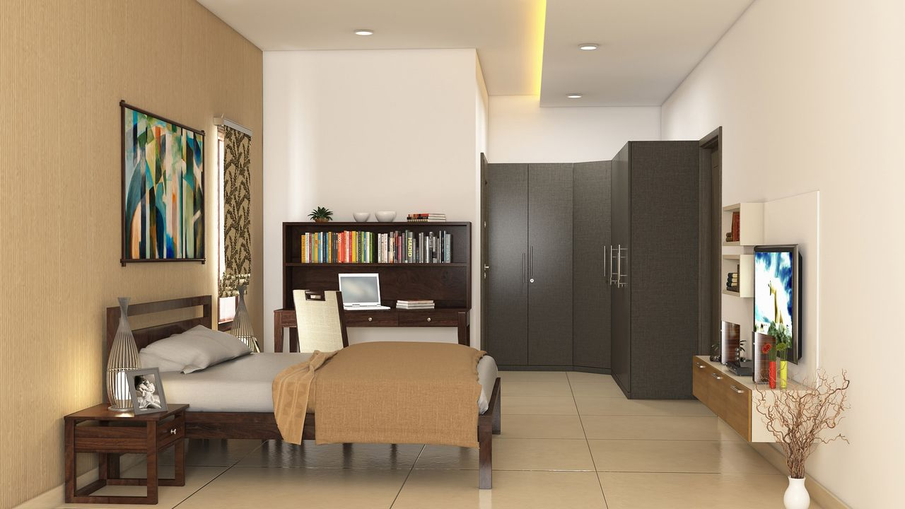 3 bhk complete interiors for Small house design in kolkata