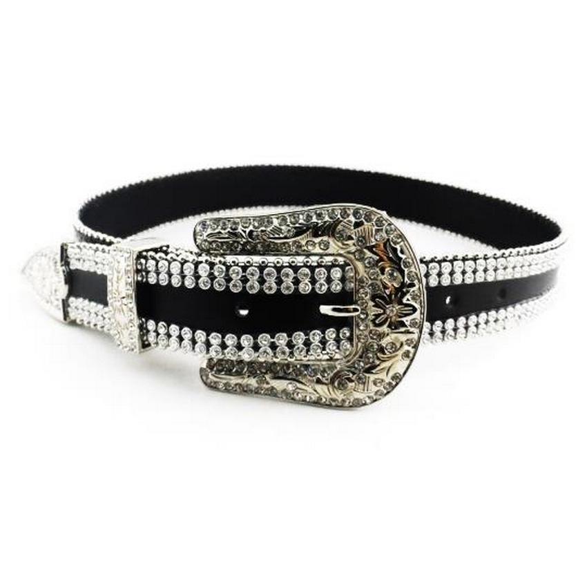 LEONARDO High End Black Ladies Fashion Cowgirl Belt