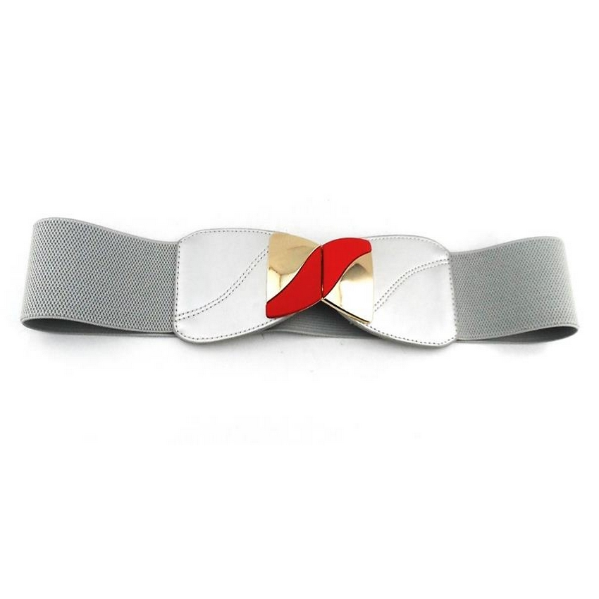 FRANCISCO Grey Elasticated Ladies Fashion Belt
