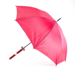 DELUXE RED SAMURAI UMBRELLA