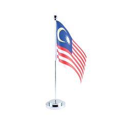 MALAYSIA FLAG WITH SILVER STAND
