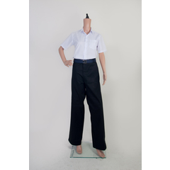 BLACK LONG PANT WITH ZIP